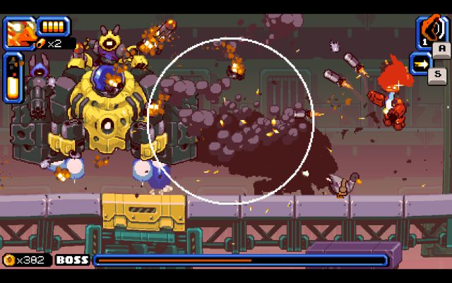 Mighty goose, goose, mighty mode, missile launcher, ultimate enemy, boss