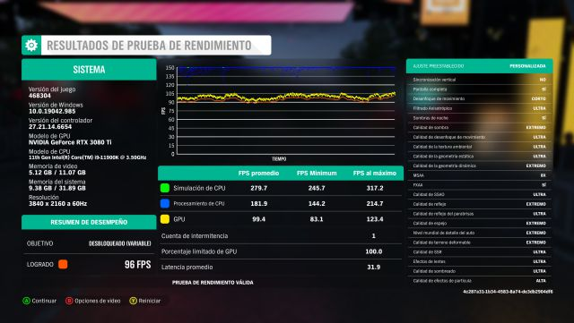 Benchmark with the GeForce RTX 3080 Ti