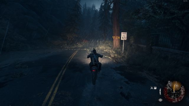 Days Gone on a Computer: Review. Driving to sunset