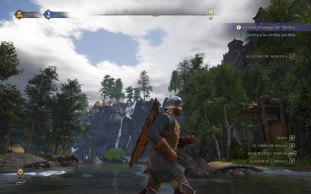 King's Bounty 2, ps4, xbox one, switch, computer, forest, armor, river, fantasy